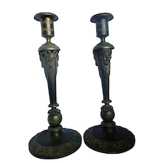 Antique Pair Of Russian Neoclassical Ormoluo Candlesticks