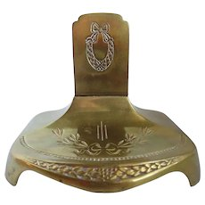Vintage German Geschutzt Bronze Letter Stand Holder Match Safe
