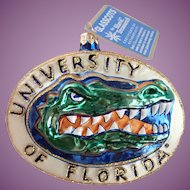 Retired University Of Florida Gator Glasscots By Slavic Treasures Ornament