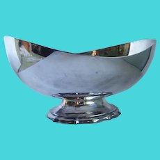 Vintage 1955 Reed & Barton Asymmetrical Center Piece Silver Plate Bowl