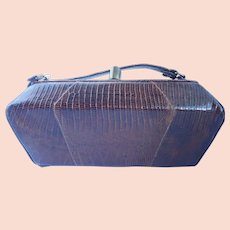 Vintage Petite Structured Lizard Purse/Hand Bag by Sterling USA