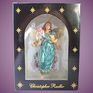Vintage Christopher Radko Angel Of Peace 2000 Christmas Ornament