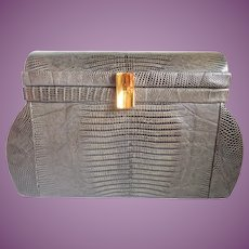 Vintage Sydney of California Lizard Petite Structured Purse Satchel