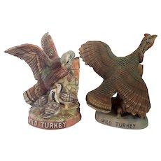 Vintage Pair of Wild Turkey Decanters 1983-1984