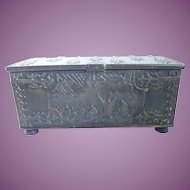 Vintage Bronze Ornate Iron Art Copenhagen Denmark Casket Box