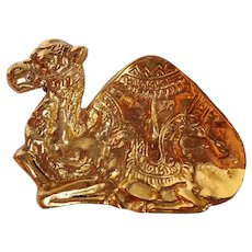 Vintage Brass Camel Trinket Tray