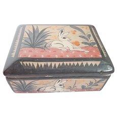 Vintage Tonala Mexican Pottery Box