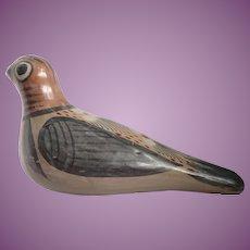Vintage Mexican Tonala Pottery Dove Figurine