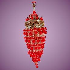 "Vintage Elaborate & Enchanting Christmas Ornament 8"" Long!"