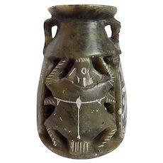 Vintage Egyptian Stone Carved Incense Burner