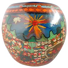 Vintage Mexican Pottery Signed Scenes From Sunny Acapulco!