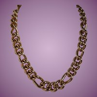 Vintage CHRISTIAN DIOR  Classic Gold Tone Heavy Link Necklace
