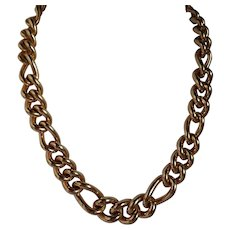 Vintage Christian Dior Gold Tone Heavy Link Necklace