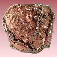 Chunky Copper & Brass Fish Shells Cuff