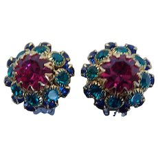 Vintage Mistar Bijoux Clip On Earrings