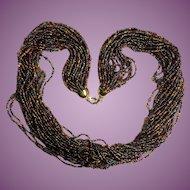 "Vintage Joan Rivers 25"" - 24 Strand Beaded Torsade Necklace"