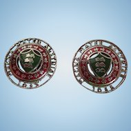 Vintage Coro Magna Mater Austriae 1635 Clip Earrings