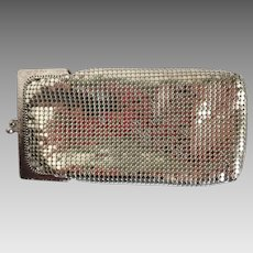 Vintage Whiting and Davis Silver Mesh Eye Glass Case