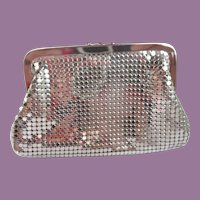 Vintage Whiting and Davis Silver Mesh Double Change Purse