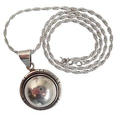 Vintage Mexican Sterling Domed Pendant