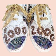 Vintage Y2K Year 2000 Colorwerks Beaded Tennis Shoes