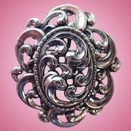Vintage Danecraft Sterling Swirling Vines Brooch/Pendant