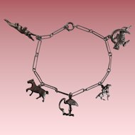 Vintage Sterling Charm Bracelet - Very charming!
