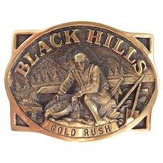 Vintage 1981 Brass Black Hills Gold Rush Heritage Mint Buckle