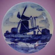 Vintage Signed V.K. Delft Dutch Windmill Pin
