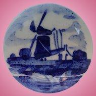 Vintage Signed V.K. Delft Dutch Windmill Pin