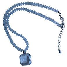 Swarovski Swan Crystal Beads with Large Crystal Pendant