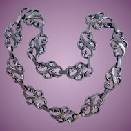 Vintage Sterling JewelArt  Scroll Necklace