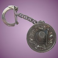 Vintage Sterling Mexican Sombrero w/Eagle Mark Key Ring