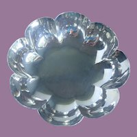 Vintage Mexican Sterling Silver Fluted Scalloped Serving Bowl Dish - Sanborns