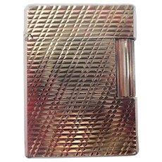Vintage St. Dupont Gold Tone Lighter Hobnail Diagonal Line 70's
