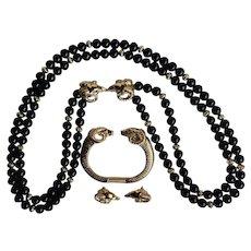 Kenneth Jay Lane KJL for Avon RAMS HEAD Necklace Bracelet, Earrings