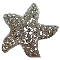 Vintage Weiss Signed Starfish Brooch