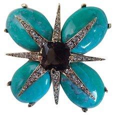 Signed Ciner Vintage Elegant Flower Brooch/Pin