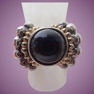Fili Menegatti Italy Designer Sterling & Onyx Ring