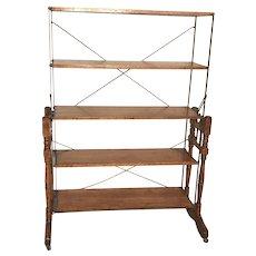 Rare Baker's Combination Folding Table