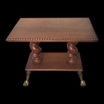 Rare Merklen Ball & Claw Foot Table, Ca. 1880