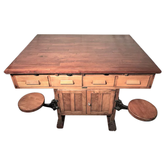 19TH Century Dual Sided Science Lab Table