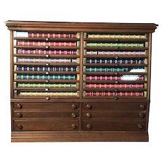 Corticelli Silk Spool Cabinet