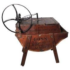 """19th Century """"BOSS"""" Washing Machine"""