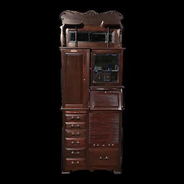Dental Cabinet  Model 46 by Harvard Dental Co. Mahogany, Ca. 1890's