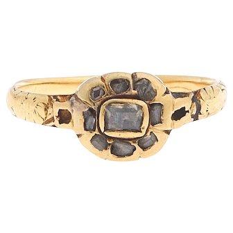 Georgian 18 karat Gold and Diamond Ring