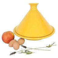 "Staub Tajine - Large 13"" Yellow Ceramic Tagine - Like New"