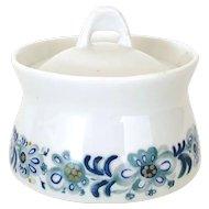 Porsgrund Norway Porcelain Sugar Dish #70 - Tiril Blue Floral