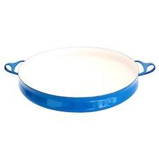 Dansk Large Enamel Paella Pan - Blue - Kobenstyle Denmark Jens Quistgaard