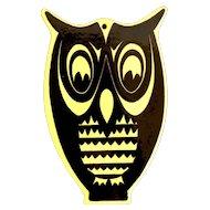 Enamel Owl Trivet - Mid-Century Design by Voss - MCM Denmark Scandinavia